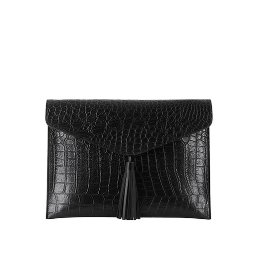 [콰니] Wani Tassel Point Clutch_Black