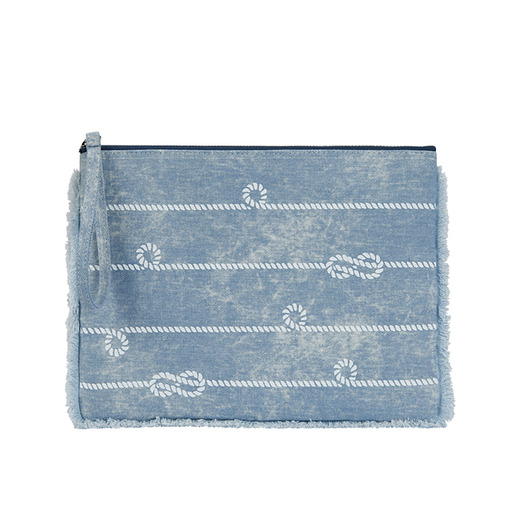 [콰니] Knot Denim Clutch