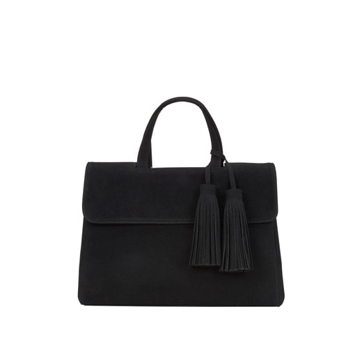 [콰니] [THE HN] Gorgeous Suede Twin Tassel Black