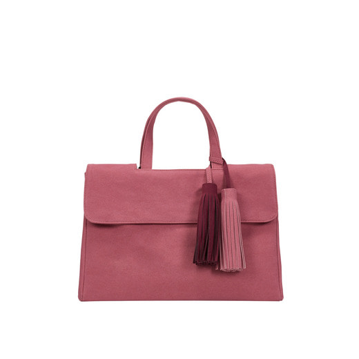 [콰니][THE HN] Gorgeous Suede Twin Tassel Pink