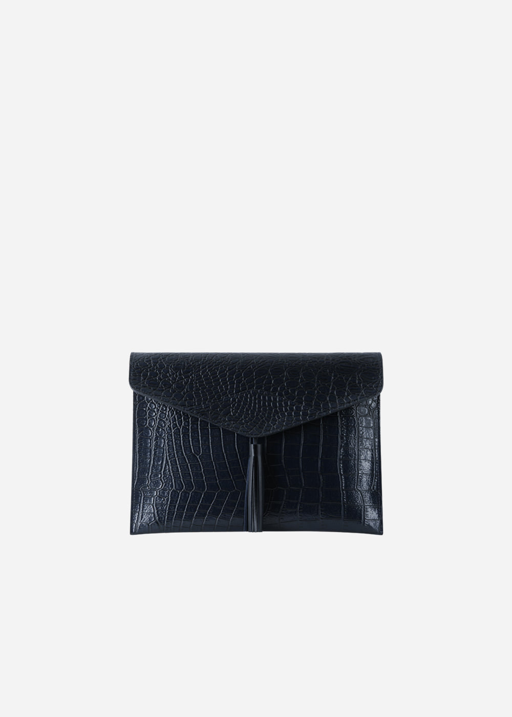 Wani Tassel Point Clutch Navy