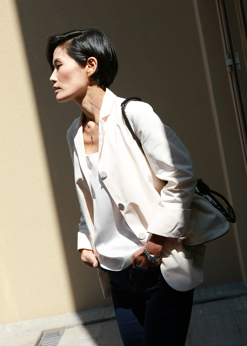 Easy Match Spring Jacket Chiffon Ivory