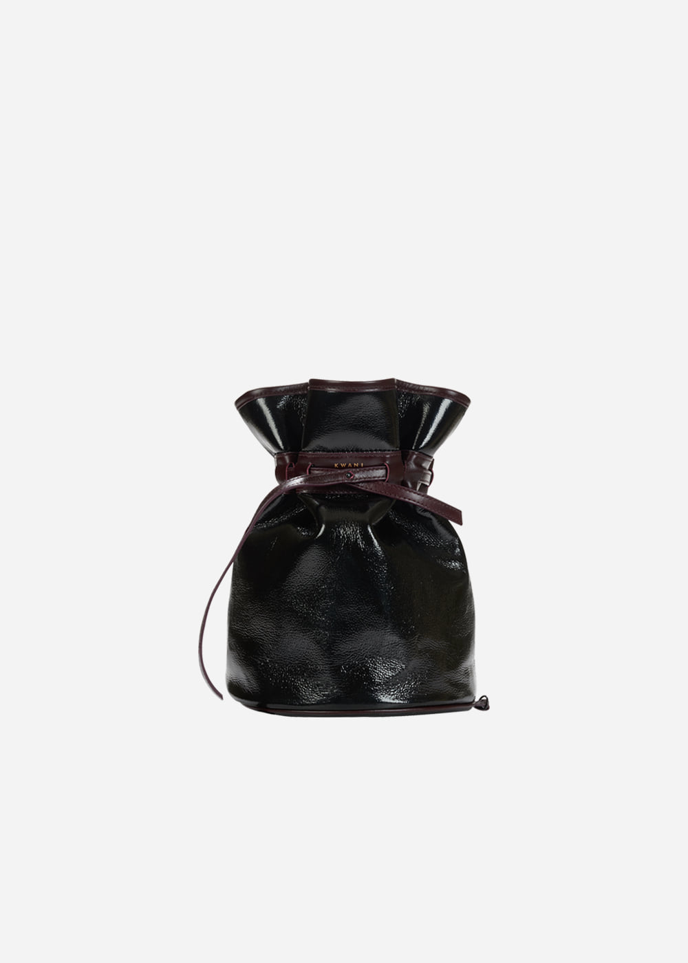 Celeb Patent Bucket Bag Black