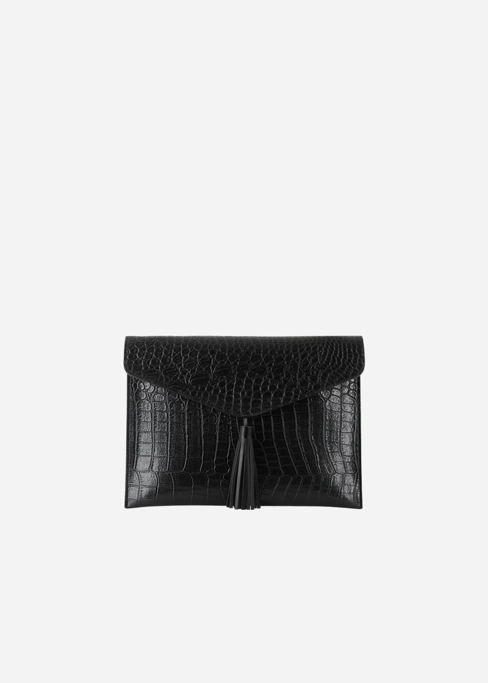 Wani Tassel Point Clutch Black