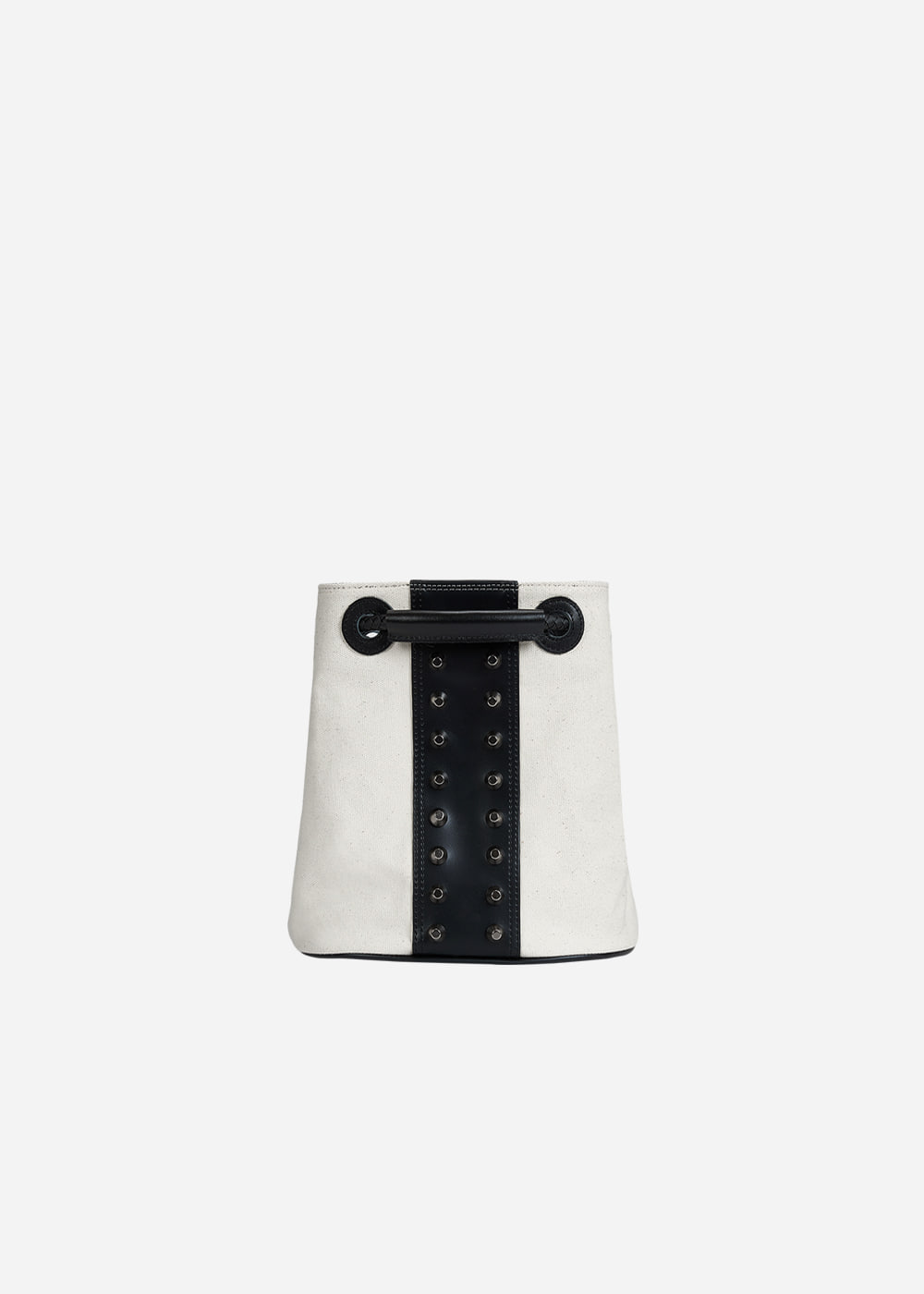 Stud Bucket Backpack Mini Ivory