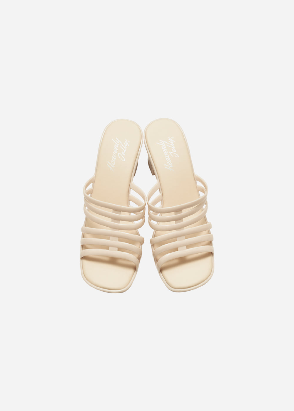 [Heavenly Jelly] Wedge Plain Light Beige
