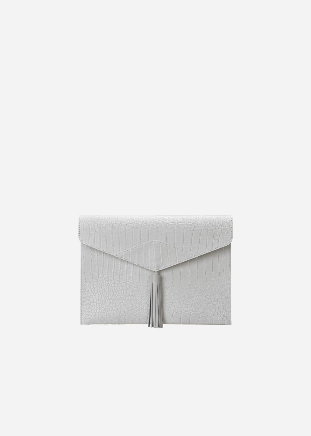 Wani Tassel Point Clutch White