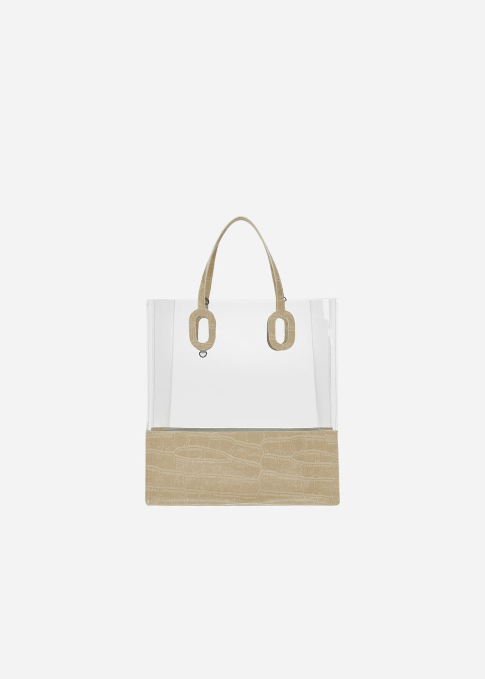 O Handle Tote Jelly Ivory
