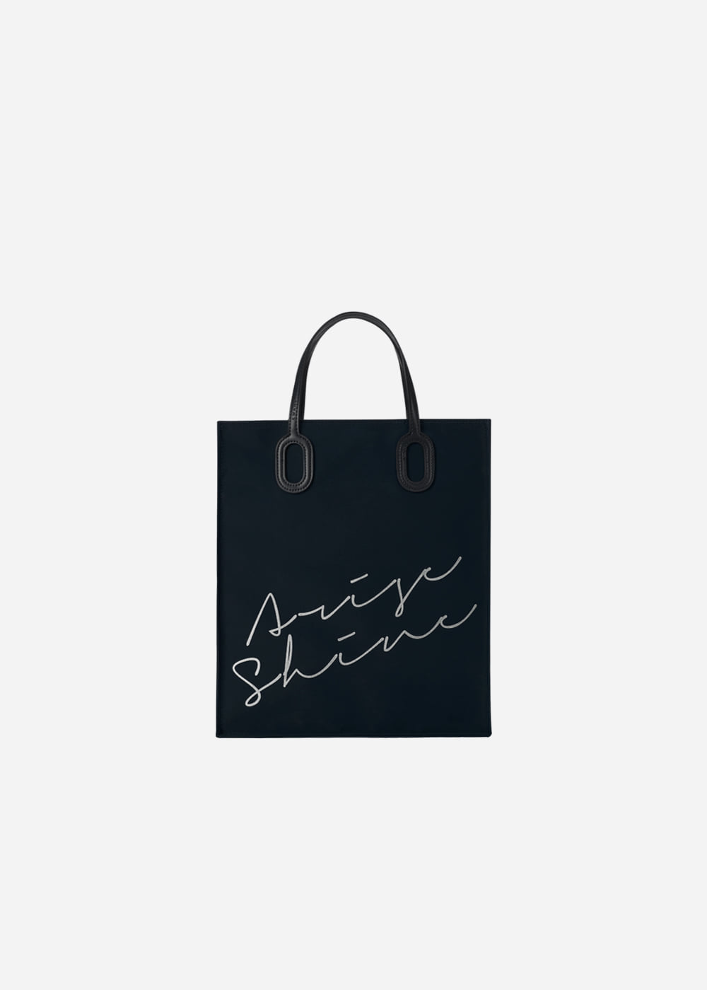 O Handle Tote Message Navy